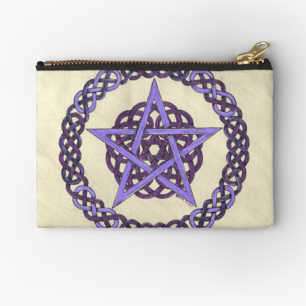 Purple Pentagram  Zipper Pouch
