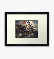 Liberty Leading the People - 1830 - Eugène Delacroix - French Revolution Framed Print