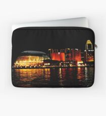 Singapore Central Business District Night Scene Laptop Sleeve
