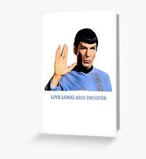Spock - Live Long And Prosper - Star Trek Greeting Card