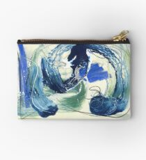 abstract painting, oil varnish pastel graphite on board Studio Pouch