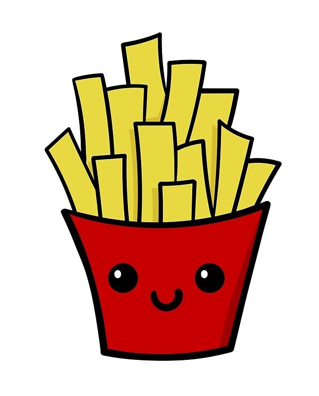 Картинка картошки фри для срисовки