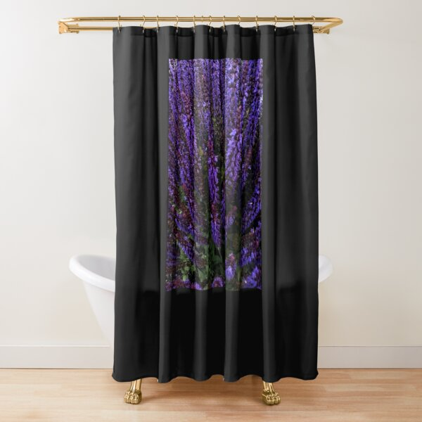 Lovely little group of irises in a glade Shower Curtain