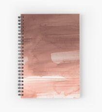 Cuaderno de espiral Splash de acuarela de oro rosa