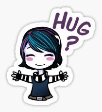Hug? Sticker Sticker