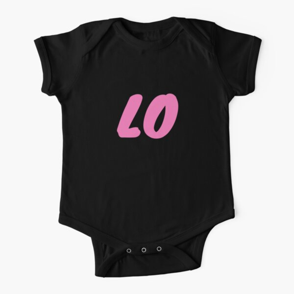 LOVE T-shirts and Apparel - Pink and Black Short Sleeve Baby One-Piece
