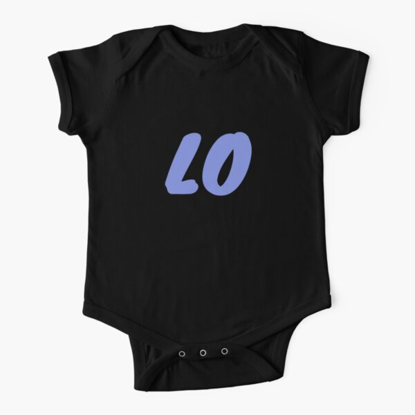 LOVE T-shirts and Apparel - Blue and Black Short Sleeve Baby One-Piece