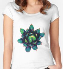 Sweet Agave ( Blue Succulent ) Women's Fitted Scoop T-Shirt