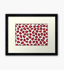 Cute Red Ladybugs - Watercolor Ladybugs  Framed Print