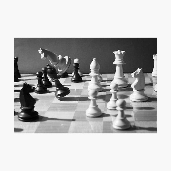 Schach Fotodruck