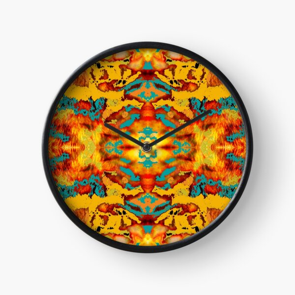 Fur kaleidoscope Clock