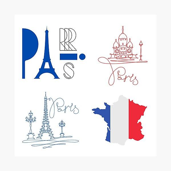 Paris Stickers Photographic Print