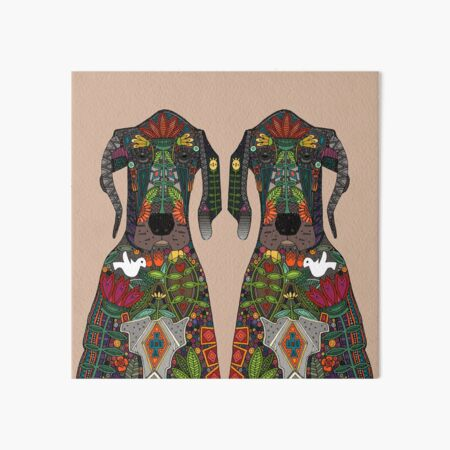 Great Dane love beige Art Board Print