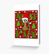 Xmas giraffe  Greeting Card