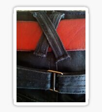 Jeans & red belt Sticker