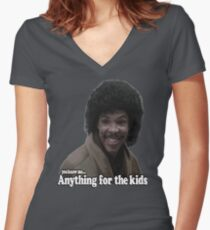 Anything for the kids Women's Fitted V-Neck T-Shirt