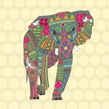 gemaltes Elefantstroh von scrummy