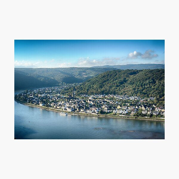 Braubach Rhineland from Marksburg Castle Photographic Print