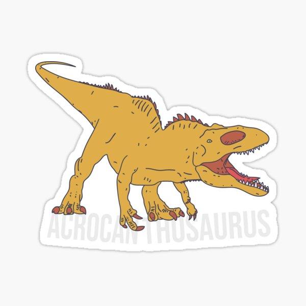 Acrocanthosaurus Text - Cretaceous Carnivore - Ancient Theropod Sticker