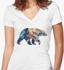 Bear Women's Fitted V-Neck T-Shirt