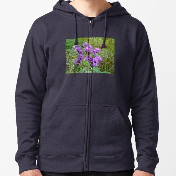 New York Ironweed Wildflower - Vernonia noveboracensis Zipped Hoodie