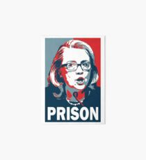 Hillary For Prison Art Board