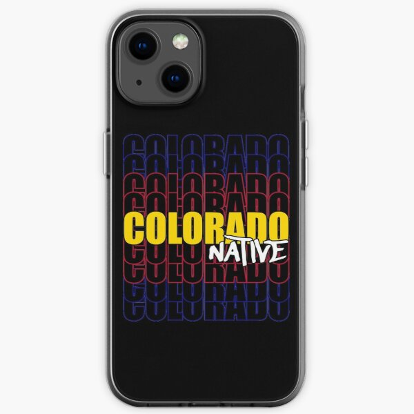Colorado Native State Flag Typography iPhone Soft Case