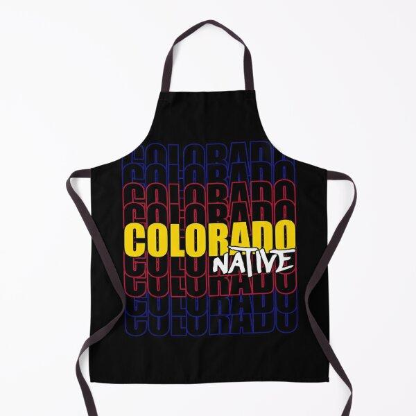 Colorado Native State Flag Typography Apron