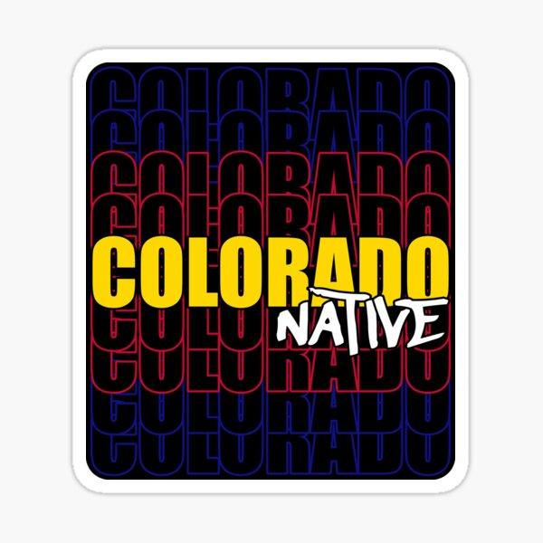 Colorado Native State Flag Typography Sticker