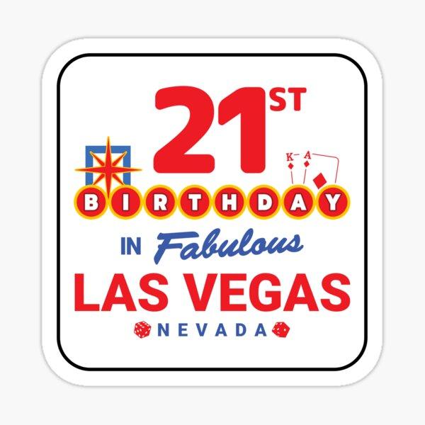 Las Vegas Birthday Party - 21st Birthday - Vegas Birthday Sticker