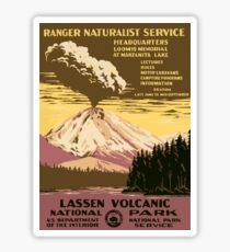 Vintage Lassen National Park California Travel  Sticker