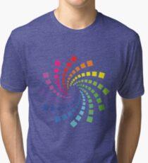 Circular Spectrum Pattern Tri-blend T-Shirt