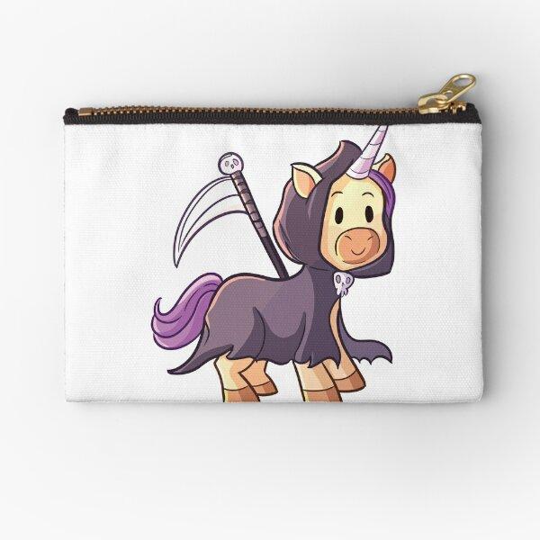 Reaper Unicorn Halloween Design Zipper Pouch