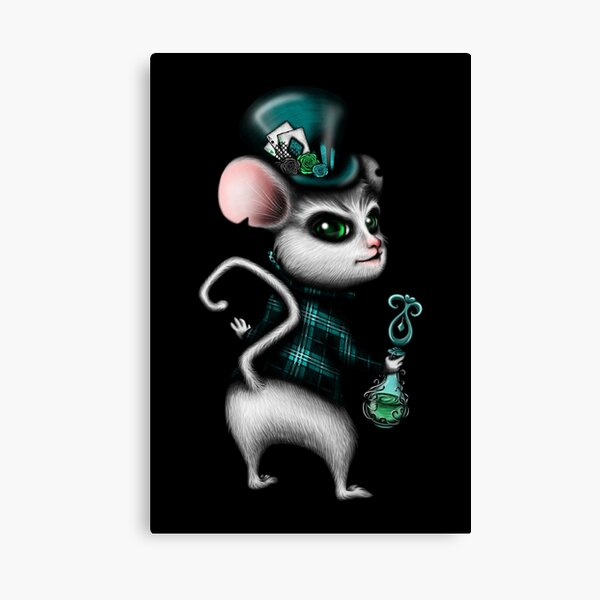 Mad Hatter with Bottle Blue Version Canvas Print