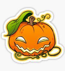 Halloween Pumpkin Emo Sticker Sticker