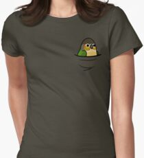 Too Many Birds! - Yellow-Sided Green Cheek Conure Womens Fitted T-Shirt