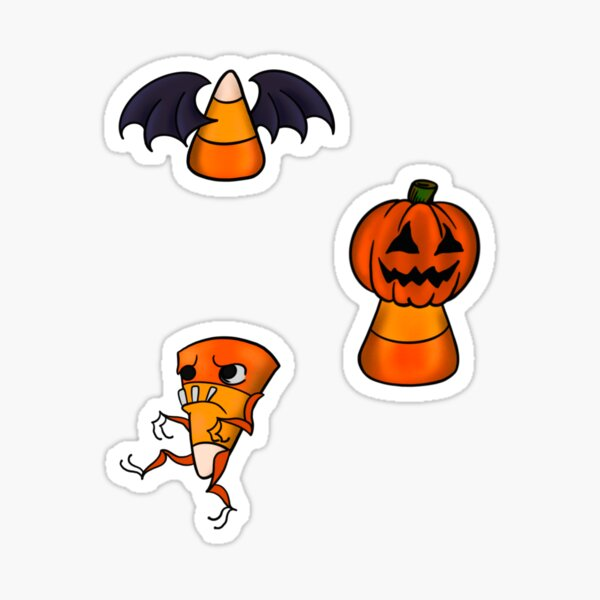 Halloween Candy Corn Pattern Sticker