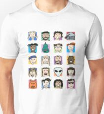 Grid of Happy Faces T-Shirt