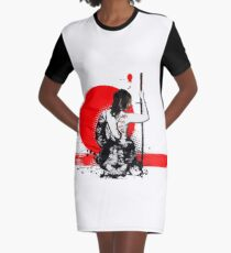 Trash Polka - Female Samurai Graphic T-Shirt Dress