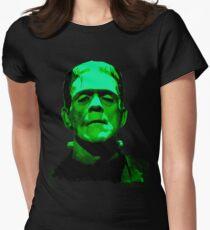 Frankenstein Monster Artwork Women's Fitted T-Shirt