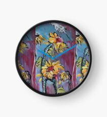 Dreamy Sunflowers Clock