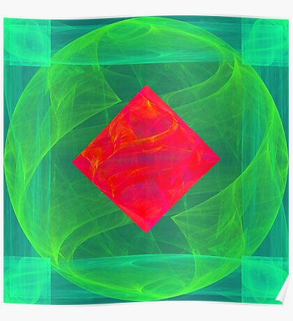Antiquarian Pulsar infrared #fractal art Poster