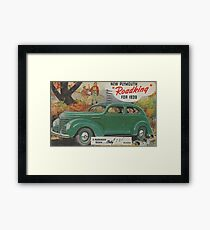 me peterson designs | all i want is a 1939 roadking! Framed Print