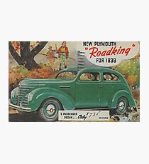 me peterson designs   all i want is a 1939 roadking! Photographic Print