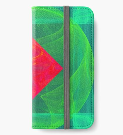 Antiquarian Pulsar infrared #fractal art iPhone Wallet