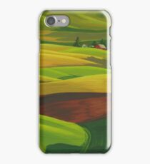 Red barn - acrylic on board iPhone Case/Skin