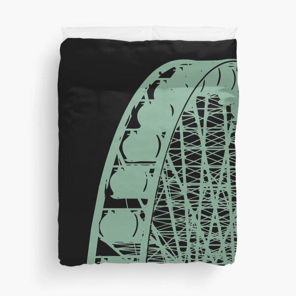 Ferris Wheel Amusement Park - Line Art Duvet Cover