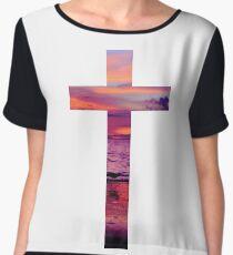 Christian Cross Women's Chiffon Top