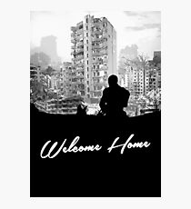 Minimal Silhouette Poster Design - 'Welcome Home' Photographic Print