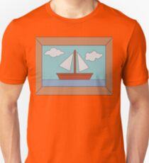 Simpson's Boat Picture (framed) Unisex T-Shirt